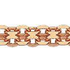 Цепочка из красного золота 585 пробы, Бисмарк двойной