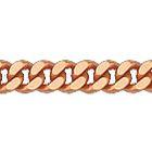 """Браслет, плетение """"Панцирь одинарный"""" из красного золота 585 пробы"""