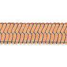 """Браслет, плетение """"Панцирное ленточное"""" из красного золота 585 пробы"""