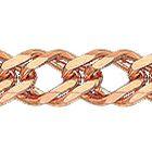 """Цепочка, плетение """"Ромб двойной"""" из красного золота 585 пробы"""